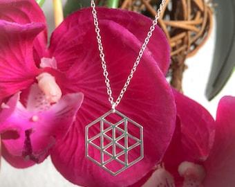 Necklace fine geometric Silver 925