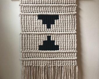 Cotton Rope Geometric Macrame Wall Hanging
