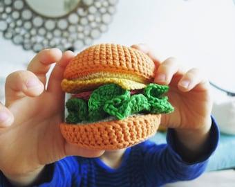 BURGERS DE FANNY - dinette au crochet- jouet d'imitation réalisé à la main