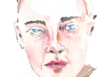 Contemporary Art - Large Modern Original Female Portrait Painting - Original Acrylic Painting - Size 19.6x27.5 inch