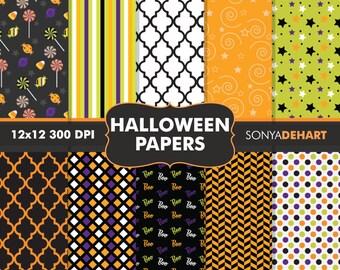 80% OFF SALE Halloween Papers, Halloween Patterns, Halloween Background, Halloween Digital, Digital Papers, Halloween, Digital Patterns