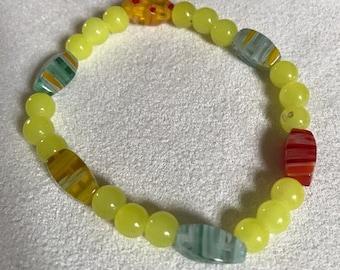 yellow zen bracelet