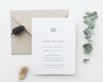 Aspen Tree Wedding Save the Date - Sample