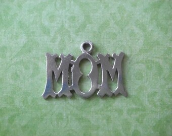 Vintage STERLING Silver MOM CHARM