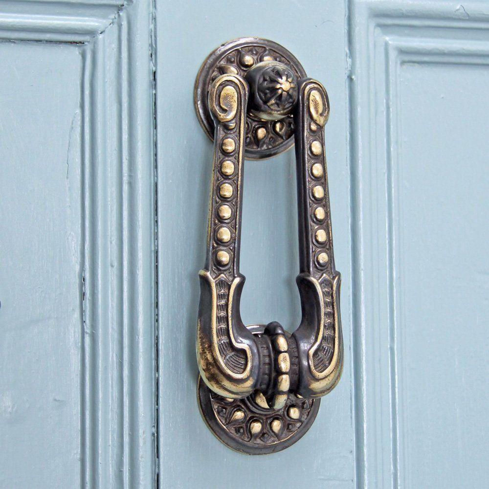 $102.43  sc 1 st  Etsy Studio & Antique Brass Regency Sherlock Door Knocker from ATCHomeShop on Etsy ...