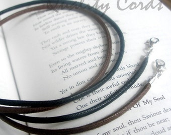 10 pcs - Thick Waxed Cotton Necklace Cords - Any Length, 2 Colors - Handmade in USA