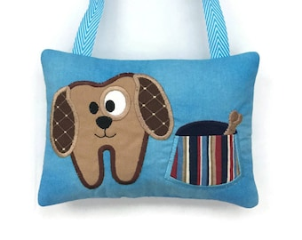 Tooth Fairy Pillow Dog - Loose Tooth - Boy Tooth Pillow - Child's Tooth Pillow - Tooth Fairy Door Hanger