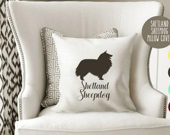 Personalized Shetland Sheepdog Pillow Cover , Sheepdog Pillow Cover