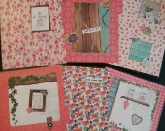 Set of 5 coordinating spacers for small workbook