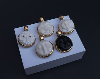 Reservable Face and Birthstone Eye pendant