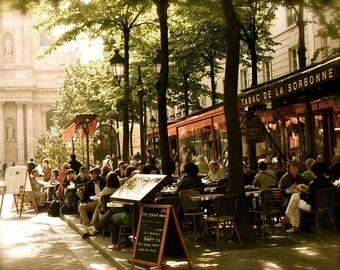 Paris Photography - Paris Cafe Photo - Tabac de la Sorbonne Print - Paris Bistro Photograph - French Cafe Wall Art - Restaurant Decor Europe