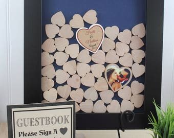 wedding drop box drop top guestbook heart drop guest book