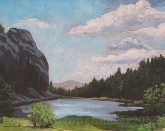 Cathedral Rock - Summer Clouds - Philmont - New Mexico - Limited Edition Fine Art Landscape Print