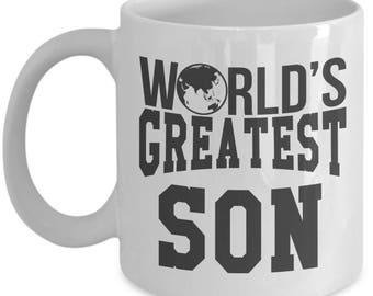 Gift for Son. World Greatest Son. BestSon Mug. 11oz 15oz Coffee Mug.