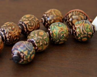 Flower Globe Mirage Beads - MOOD 003