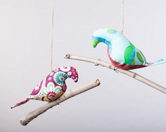 Bird on a Twig ~ Custom Bird Mobile ~ Natural Bird Mobile ~ Shower Gift ~ Wedding Decor ~ Room Decor