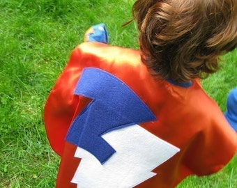 3 Superhero Costume Kid capes childrens cape Personalized Custom Featured on Martha Stewart