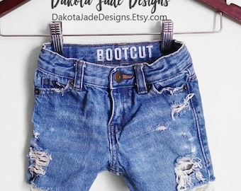 Toddler Jean Shorts, Distressed Shorts, Distressed Blue Jeans Shorts, Kids Distressed Shorts, Kids Distressed Denim, Girls Denim, Boys Denim