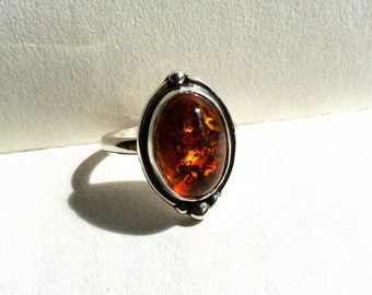 Odyssey - Amber Sterling Silver Ring