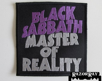 BLACK SABBATH - Master Of Reality == Embroidered Patch / Saint Vitus Candlemass Witchfinder General Cathedral Orchid Witchcraft Pagan Altar