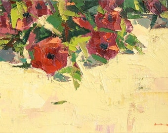 "Garden 19"" Original oil painting on canvas 8"" x 6"""