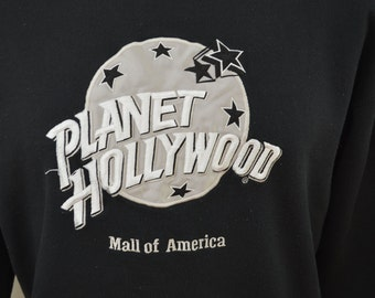 last chance Vintage PLANET HOLLYWOOD Mall Of America sweatshirt 1991 made in USA size large