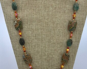 Rainforest Jasper (ryolite) necklace