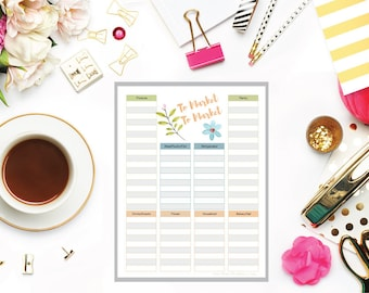 Shopping List, Grocery List, Weekly Shopping List,Weekly Grocery List Template,Meal Planner,Menu Planning,Grocery Shopping,A4,A5,Letter