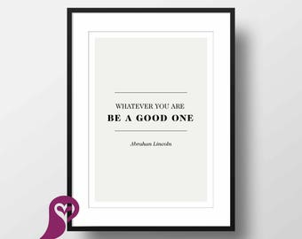 Abraham Lincoln Poster | Quote | Typography | Wall Art | Wall Decor | Home Decor | Prints | Poster | Digital Paper | Digital Download