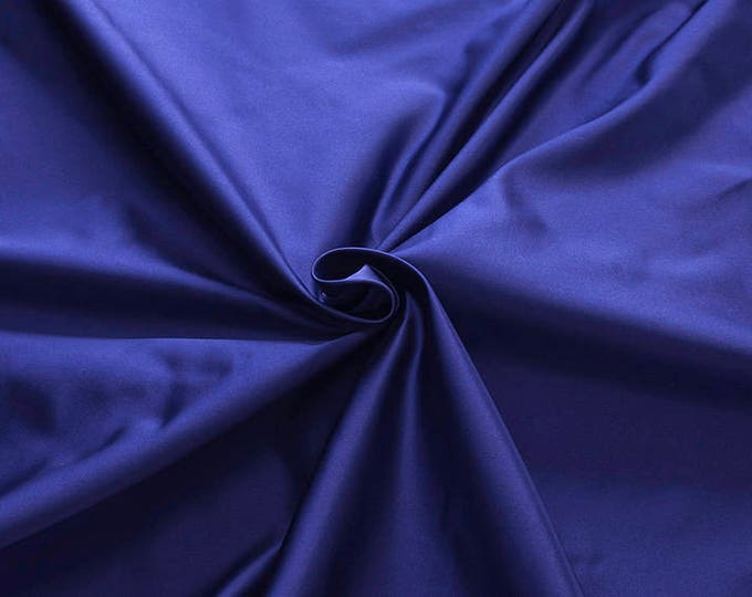 876159-Satin Natural silk 100%, width 135/140 cm, made in Italy, dry cleaning, weight 190 gr