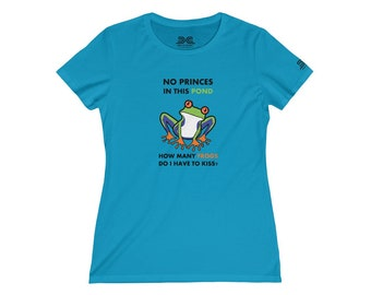 Womens Tee Shirt  Animals Frog Colored Print