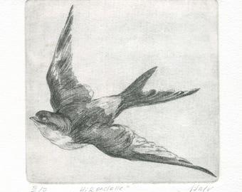 """engraving """"Swallow"""""""