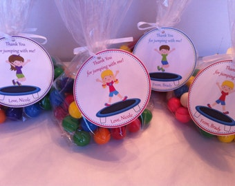 Trampoline Party Favor Bags - Trampoline Birthday Favors - Jumping Birthday Favors