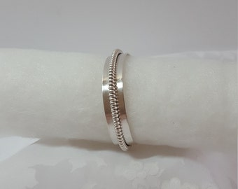 Silver Bracelet, Southwest Jewelry, Native American, Twisted Rope, Cuff Style, Vintage