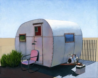 Desert Camper - limited edition archival print 54/100