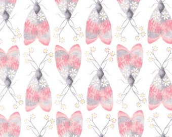 SALE 25% OFF Marguerite Butterfly Print Premium Cotton from Michael Miller Fabrics
