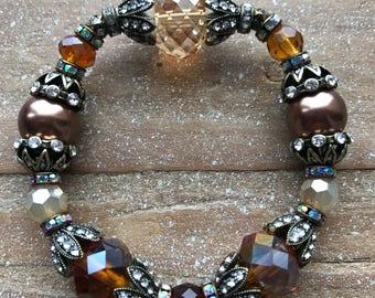 Brass Crystal Bracelet