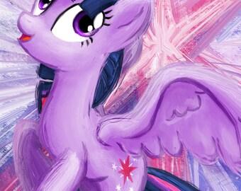 Twilight Sparkle - My Little Pony Friendship is Magic Art Print Poster