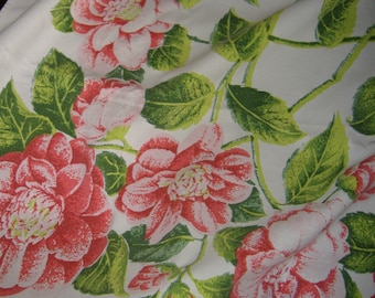 1950S TABLE CLOTH ROSE Design