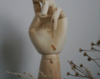 Wildflower Wooden Hand Mannequin