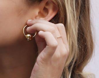 Large hoops, Dainty hoop earrings, hoop earrings, Ball hoops, Dainty hoop earrings, Delicate hoops, Minimalist hoop earrings, Tiny hoops