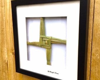 Made in Ireland St Brigid's Cross in Frame 3D Memory Box Frame