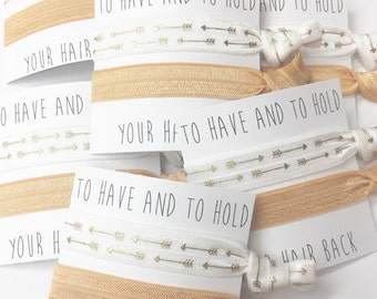 Bridesmaid hair tie favors//hair tie card, hair tie favor, bridesmaid hair ties,  party favor, bachelorette party, wedding, bride, groom