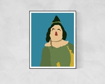 Scarecrow Minimalist Poster | Wizard of Oz Wizard of Oz Poster Emerald City Oz Dorothy Poster Yellow Brick Road Glinda Scarecrow Tin Man