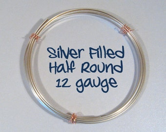 12ga HR DS Half Round Silver Filled Wire - Choose Your Length