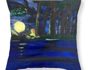 Meditation Themed Throw Pillow