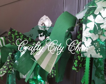 St. Patrick's Day themed Fabric Garland - FREE shipping **CLEARANCE**