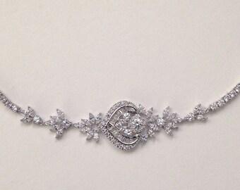 Crystal wedding Bracelet, Rose gold, Gold Wedding Bracelet, Crystal Bridal Bracelet
