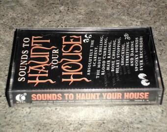 Vintage 1992 Halloween Cassette - Sounds To Haunt Your House - K-Tel