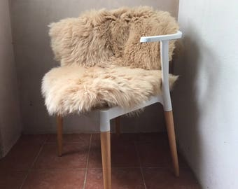 Sheepskin Sustainable Blush Beige Rug or Throw with a Dorset story